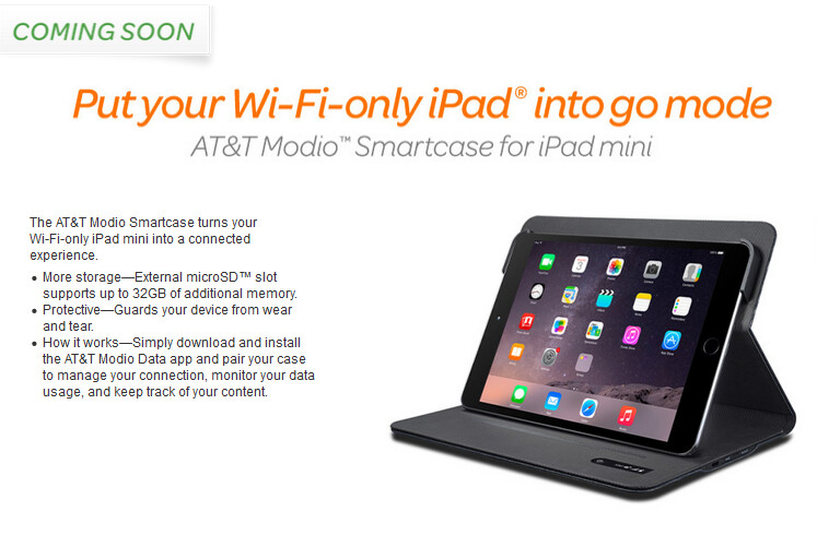 AT&T Modio gives your Wi-Fi only iPad a connection to AT&T's 4G LTE network - AT&T Modio gives 4G LTE connectivity to certain Wi-Fi only Apple iPad models