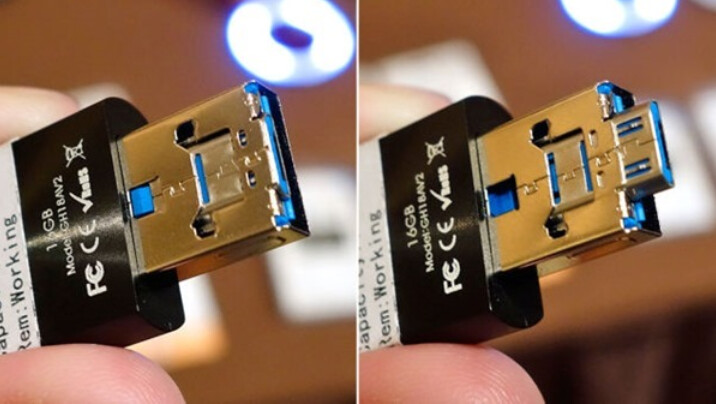 iStick Pro turns a standard USB connector (L) into one for a micro-USB port - Hyper's iStick Pro adds a USB to micro-USB connector