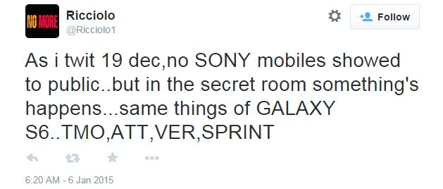 Xperia Z4 might have been secretly showcased to carriers at CES, along with the Galaxy S6