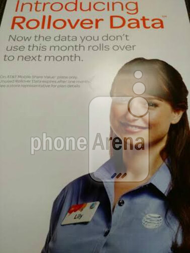 Leaked image hints at rollover data for AT&T - Leaked image reveals Rollover Data is coming to AT&T