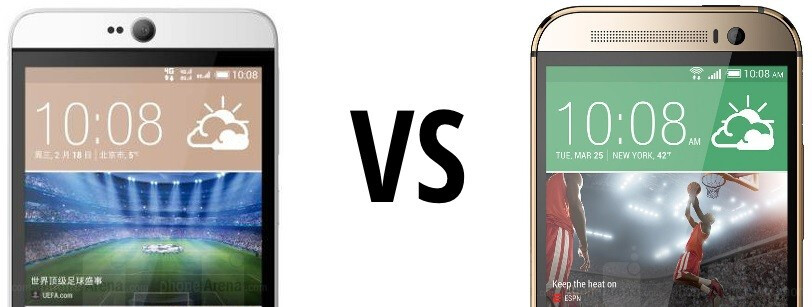 HTC Desire 826 vs HTC One (M8): first look