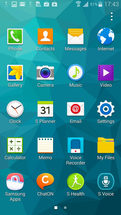 TouchWiz on the S5