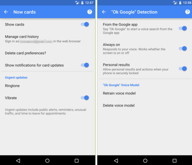 The Google app for Android has been updated to version 4.1 - Google app is updated for Android, gives users more control over what cards appear on Google Now