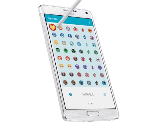 Penvatars on a Samsung Galaxy Note 4