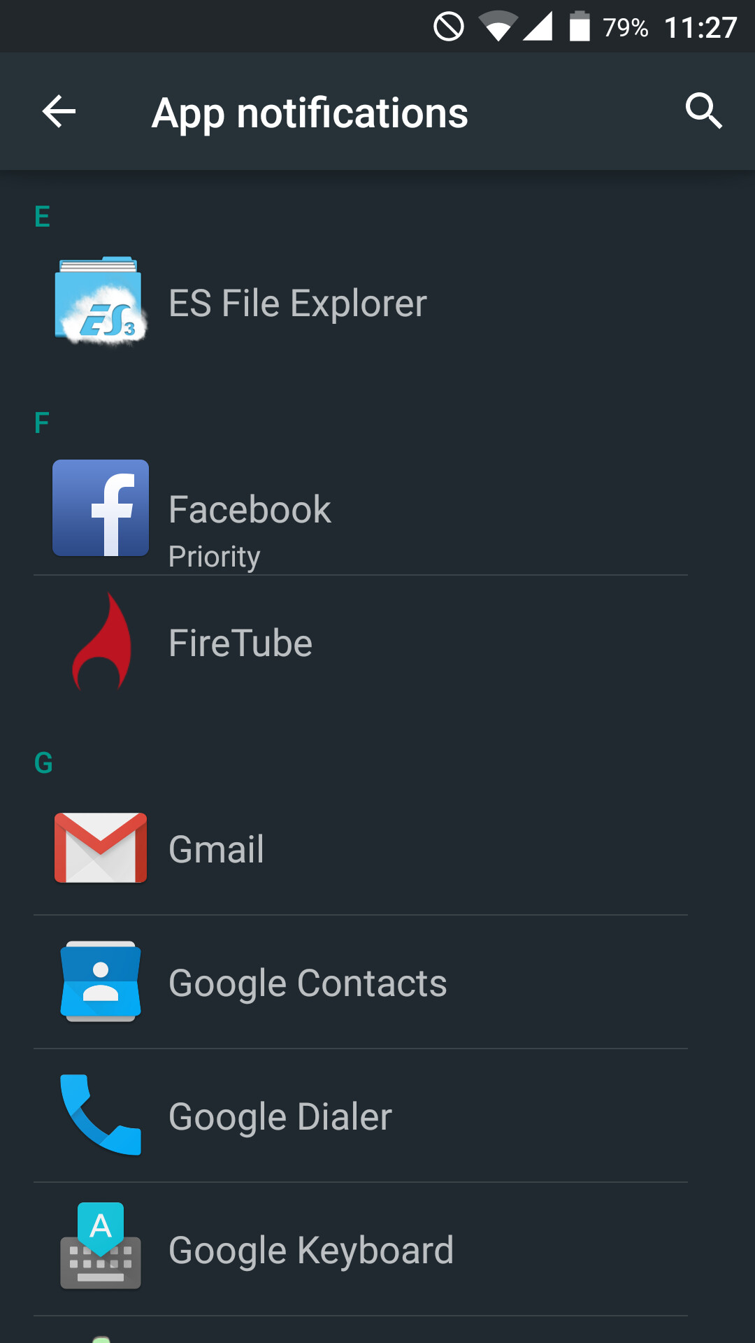 how to change an app priority
