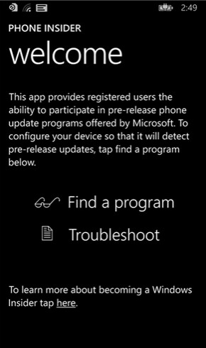 Does the appearance of the Phone Insider app hint that a preview version of Windows 10 for phones is coming? - Microsoft Phone Insider app hints at a preview version of Windows 10 for phones