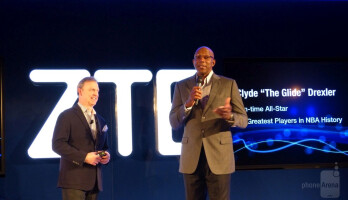 NBA All-Star Clyde Drexler made his pitch, and shared genuine excitement over ZTE, particularly the new SPRO2 smart projector