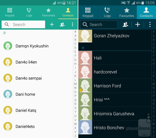 Dialer, Contacts, Messaging