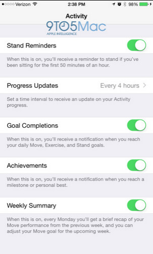 Screenshots from the Apple Watch Companion app - The Apple Watch Companion app will control the settings of your iOS timepiece from an iPhone