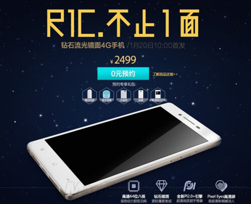 Oppo R1C is officially unveiled