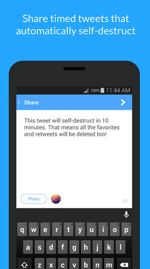 Xpire allows you to post self-destructing tweets - Xpire makes your Twitter posts self-destruct; app now available for Android