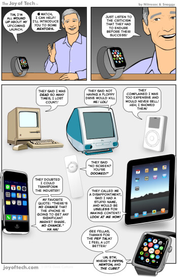 Humor: Apple Watch gets a pre-launch pep-talk