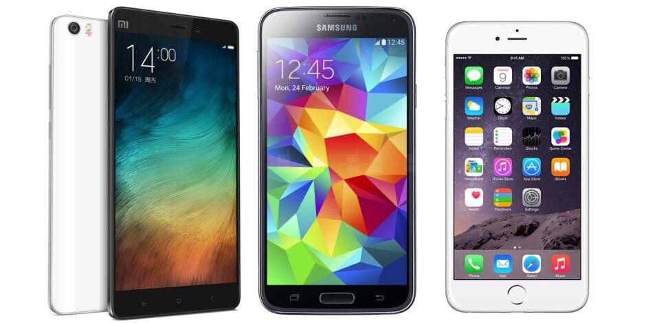 Xiaomi Mi Note vs Samsung Galaxy S5 vs Apple iPhone 6: specs comparison
