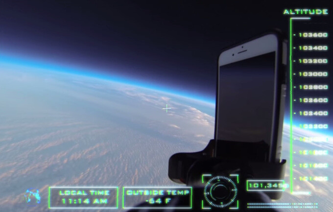 The ultimate drop test: an Apple iPhone 6 with a rugged case falls 101,000ft, guess what happens next