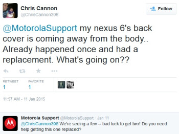 Motorola to replace defective Nexus 6 devices suffering issue with detaching back-plate