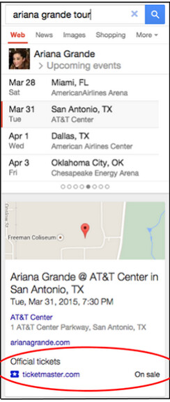 Buy concert tickets from a Google Search - Buy your concert tickets directly from Google Search