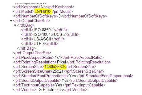 RDF file confirms a QHD display for AT&T's version of the LG G4 - Leak reveals model number for AT&T's LG G4?