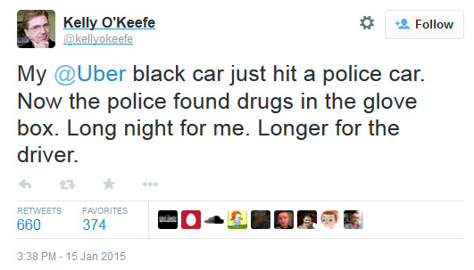 Uber's public perception takes another hit - More troubles for Uber: driver crashes into police car, pot found