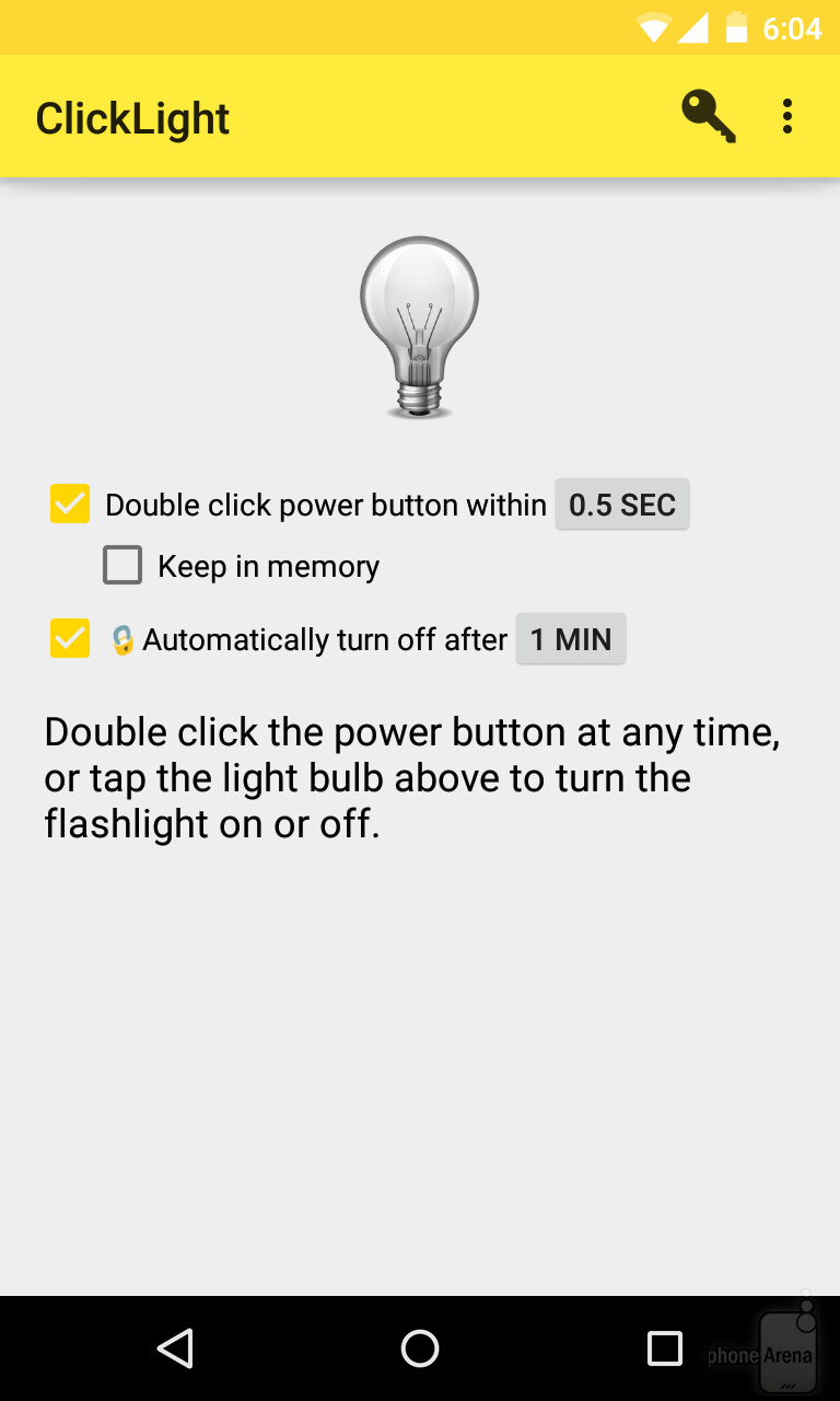 How to quickly turn on the flashlight (using the power button) on