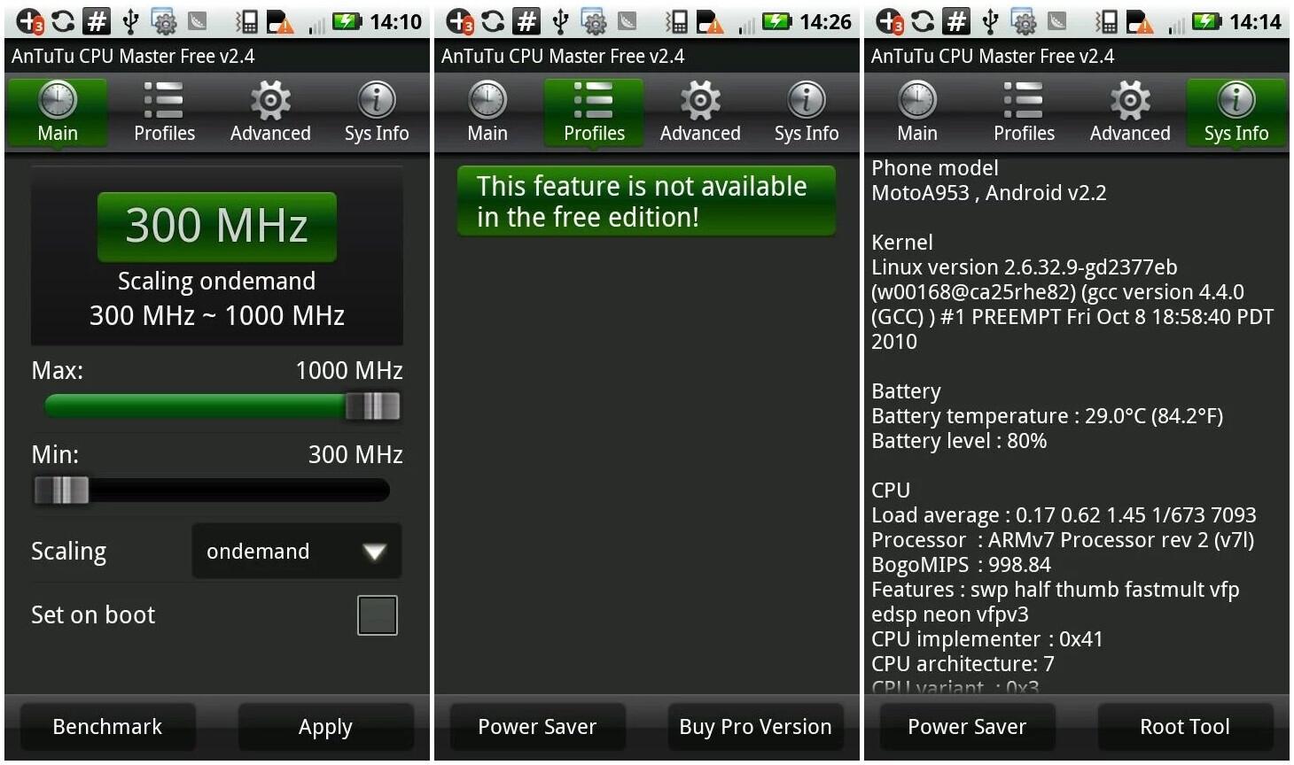 Скачать CPU Master для Android. Управление частотой процессора, системные программы для Андроид.