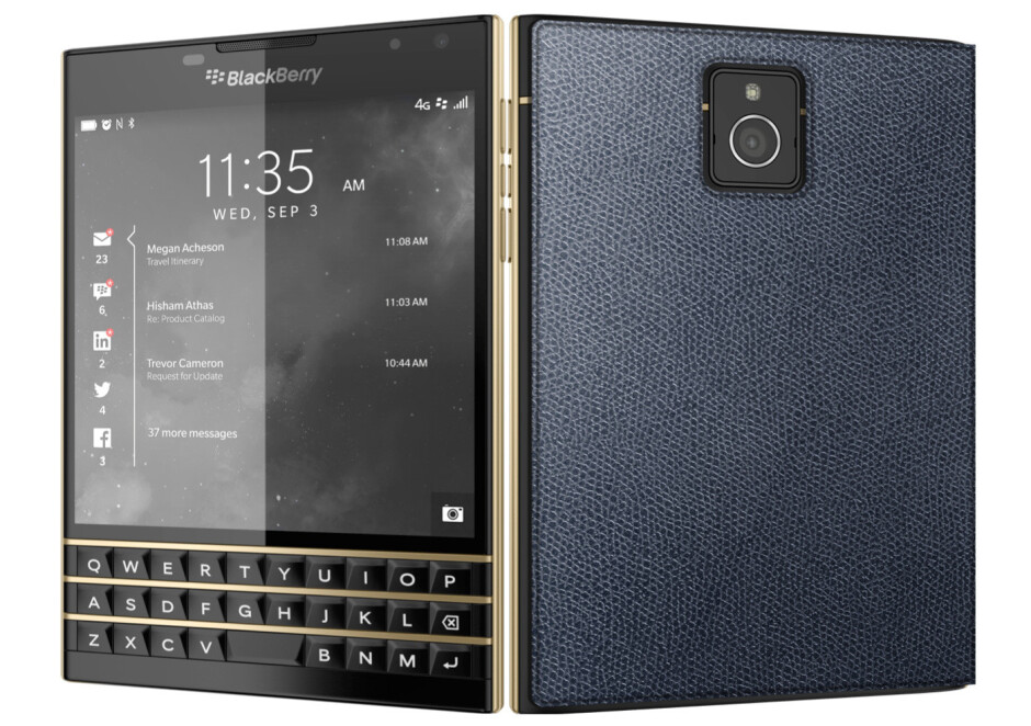 Only 50 units of this BlackBerry Passport Black & Gold edition exist, there's no gold on board though