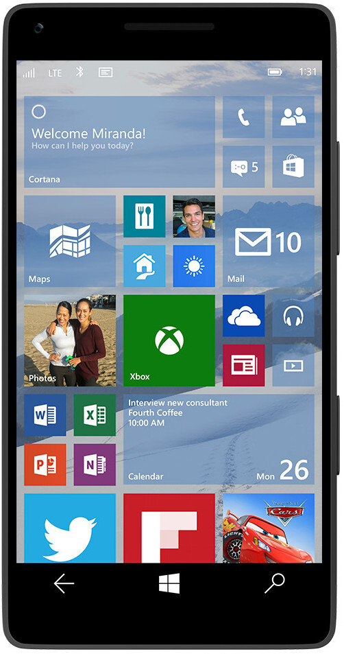 Windows 10 on a phone will arrive with universal apps, wallpapers and new notification system