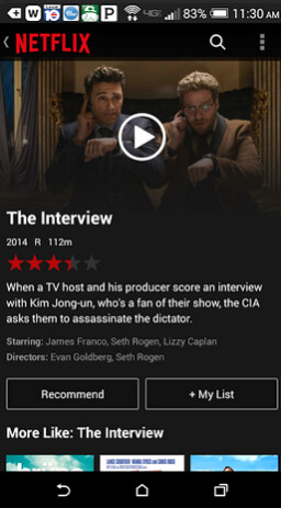 The Interview is now available for Netflix subscribers - Need to kill some time? The Interview is now on Netflix