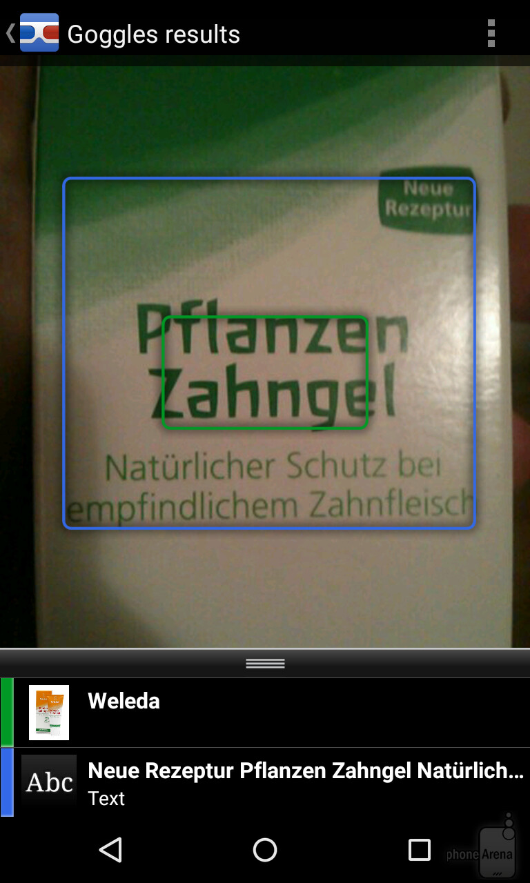 how to use google goggles to translate text