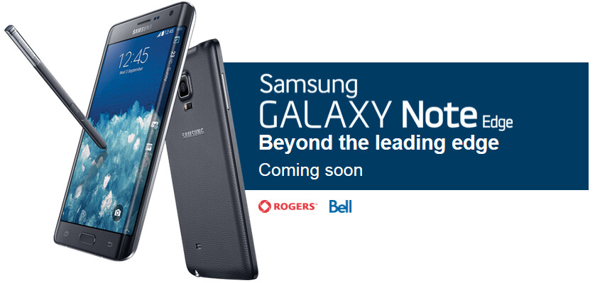 Samsung Galaxy Note Edge is coming to Canadian carriers Bell and Rogers - Oh Canada, Rogers and Bell will both soon offer the Samsung Galaxy Note Edge