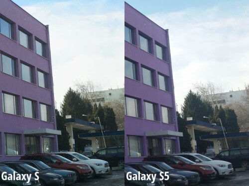 Galaxy S (left), Galaxy S5 (right)