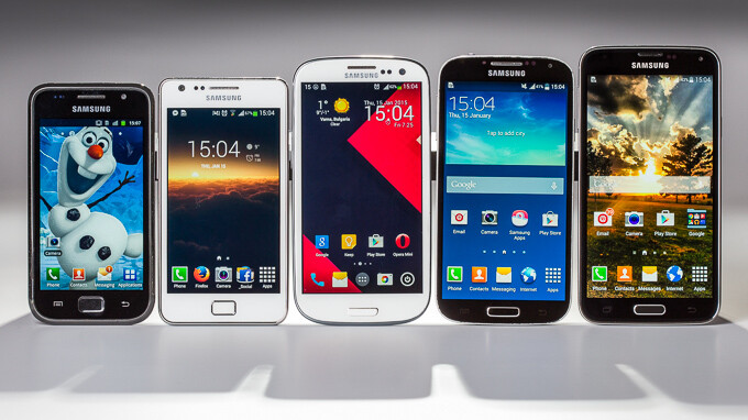 The Samsung Galaxy S family. From left to right – Galaxy S, Galaxy SII, Galaxy SIII, Galaxy S4, and Galaxy S5. - Camera evolution: See image and video quality skyrocket from the original Galaxy S to the Galaxy S5