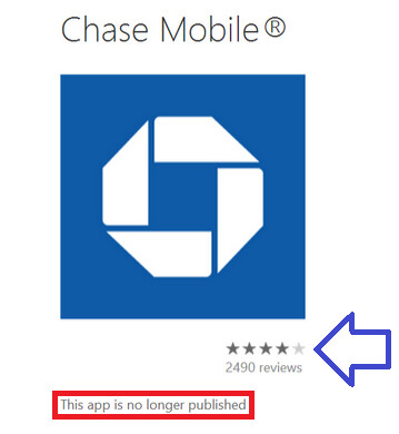 Chase pulls its app from Windows Phone Store - Windows Phone Store loses Chase app