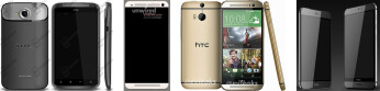 Alleged HTC One (M9) and One (M9) Plus, pictured on the right