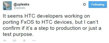 HTC may be testing Firefox OS on some of its phones