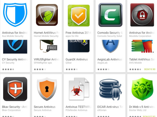 Mock antivirus apps