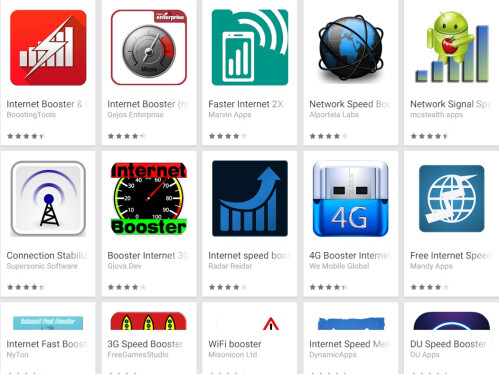 Internet booster apps