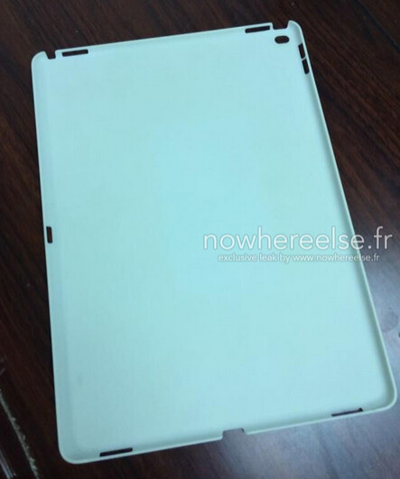 Leaked photo allegedly shows casing for Apple iPad Pro - Casing for Apple iPad Pro leaks, revealing possible cutouts for four speakers