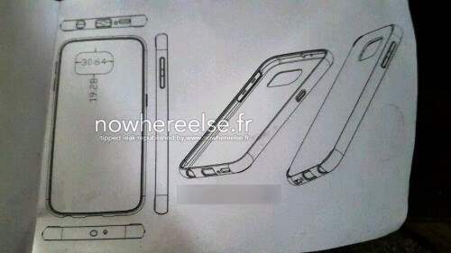 Leaked Galaxy S6 case & schematics