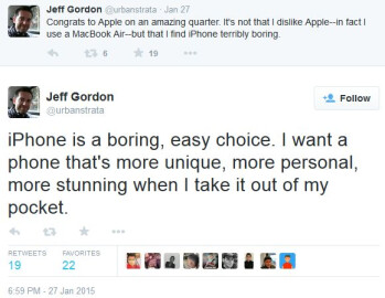 "HTC's Jeff Gordon: the iPhone is ""terribly boring"""