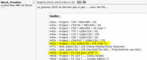 Information leaks about a mid-range LG G4 Stylus or LG G4s