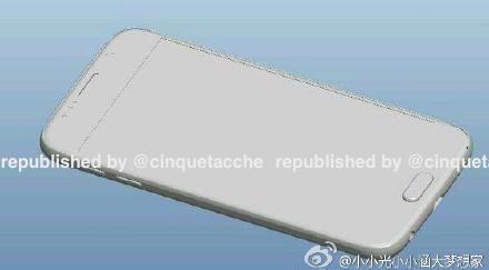 Alleged Galaxy S6 blueprint and renders