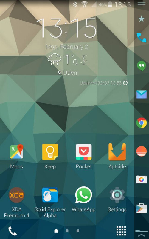 Official beta build of Lollipop for the Samsung Galaxy Note Edge leaks