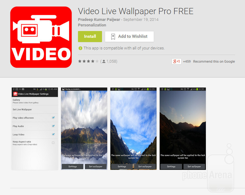 How to set any video as a looping live wallpaper on Android