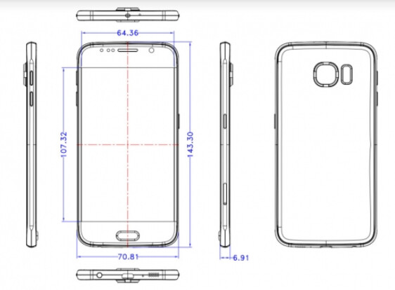 Samsung Galaxy S6 sketches leak revealing its dimensions?