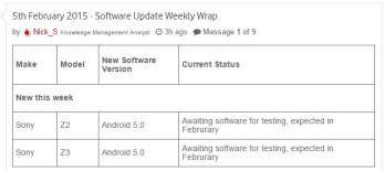 Android Lollipop testing for Sony Xperia Z3 and Z2 to ...