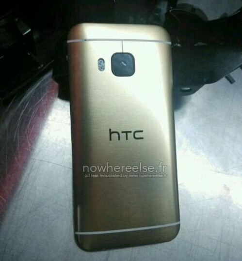 Here's what the gold HTC One (M9) reportedly looks like