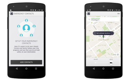 New feature Safety Net allows you to share information about your Uber ride with up to five friends and family members - Uber to add panic button to its Indian app on February 11th