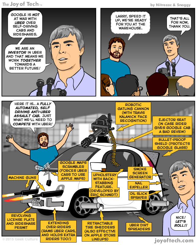 Humor: What kind of self-driving vehicle might Google's on-demand car app deliver to compete with Uber?