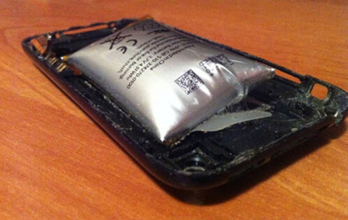 What a bad battery looks like