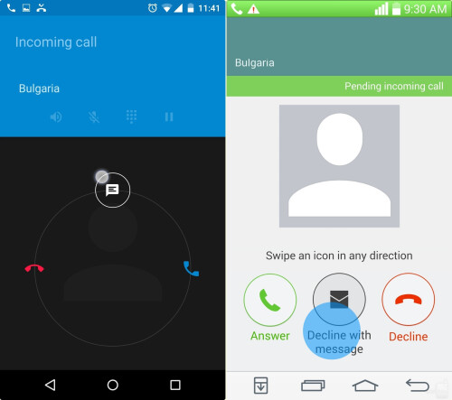 How to decline incoming calls with messages using Quick